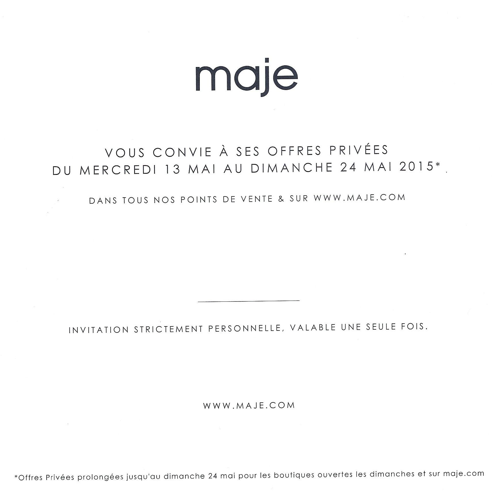 vente-privee-boutique-MAJE-mai-2015