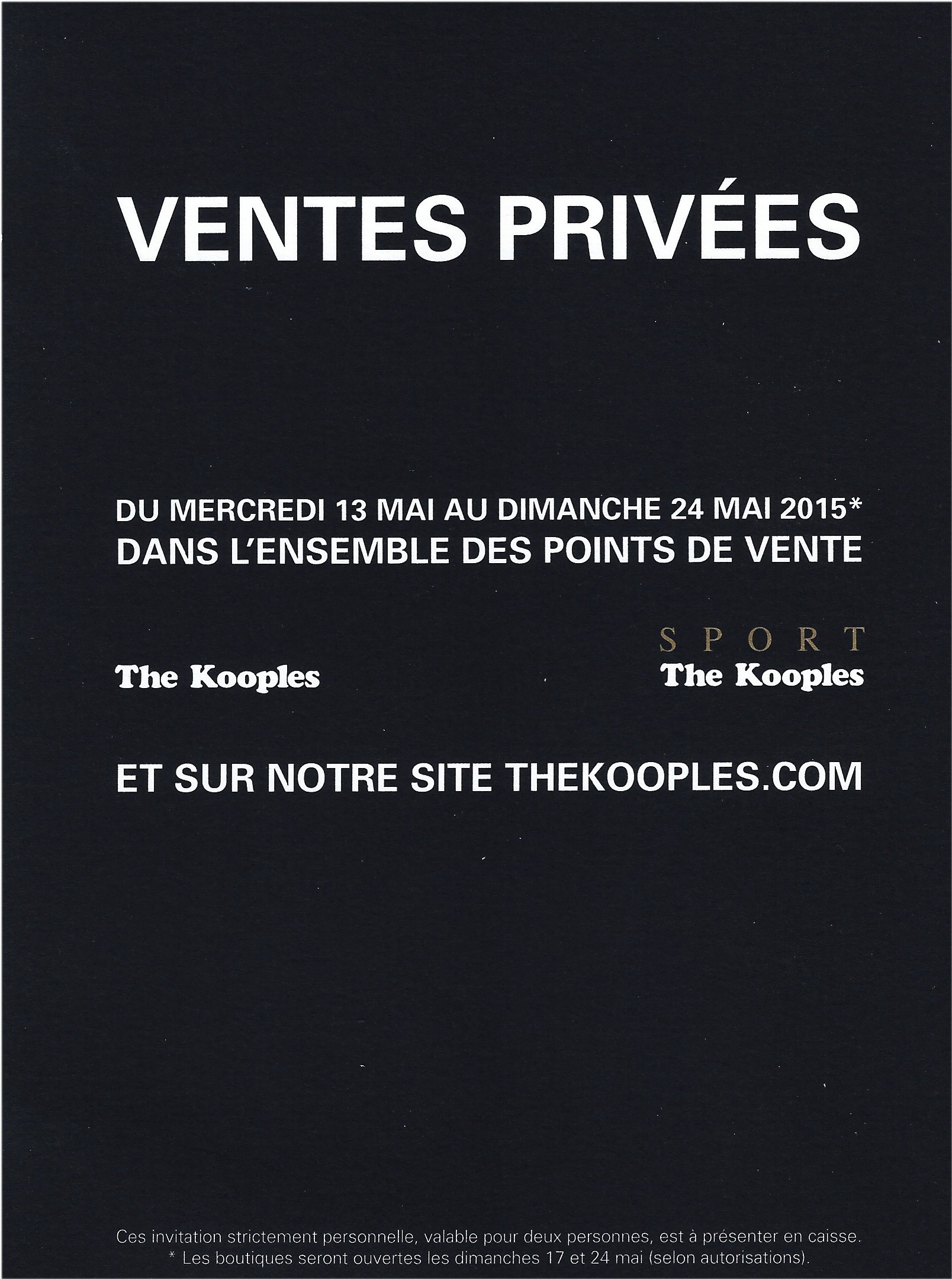 vente privee kooples