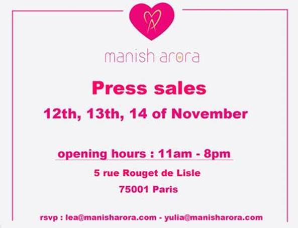 invitation-vente-presse-manish-arora-novembre-2015-paris
