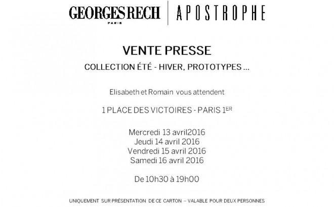 vente-presse-privée-apostrophe-george-rech