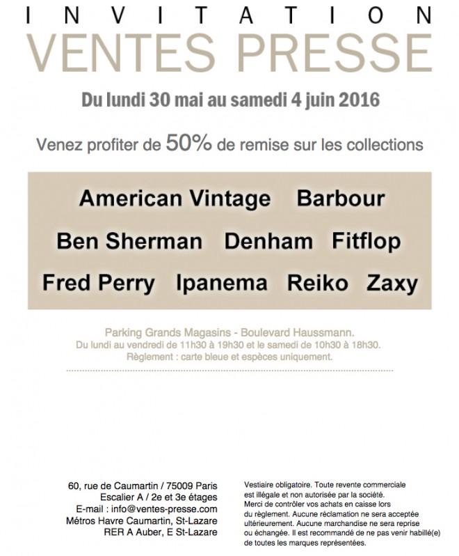 invitation-vente-presse-AMERICAN-VINTAGE-mai-2016