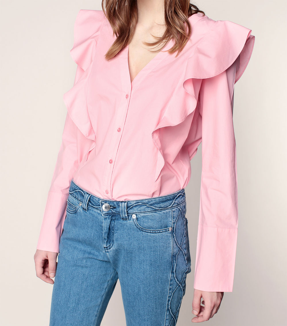 blouse-vila-volants-rose
