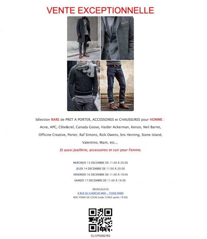 vente-presse-KENZO-acne-homme-paris-decembre-2017