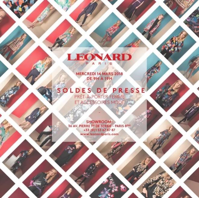 SOLDES PRESSE LEONARD PARIS 9H à 19h