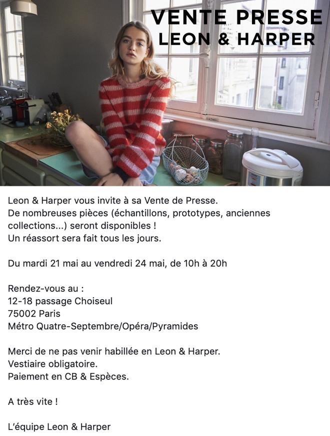 vente-presse-LEON-ET-HARPER-Paris-mai-2019