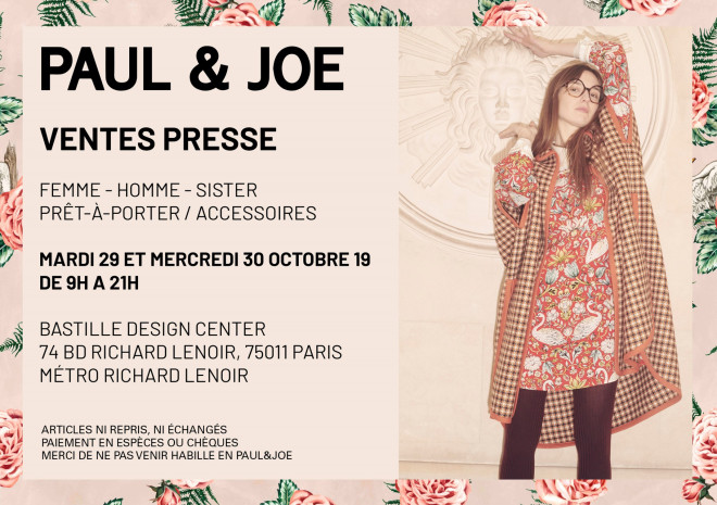 vente-presse-paul-and-joe-Paris-novembre-2019