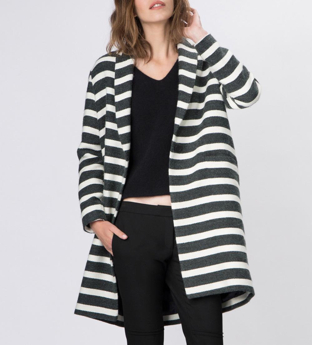 manteau-rayures-maje