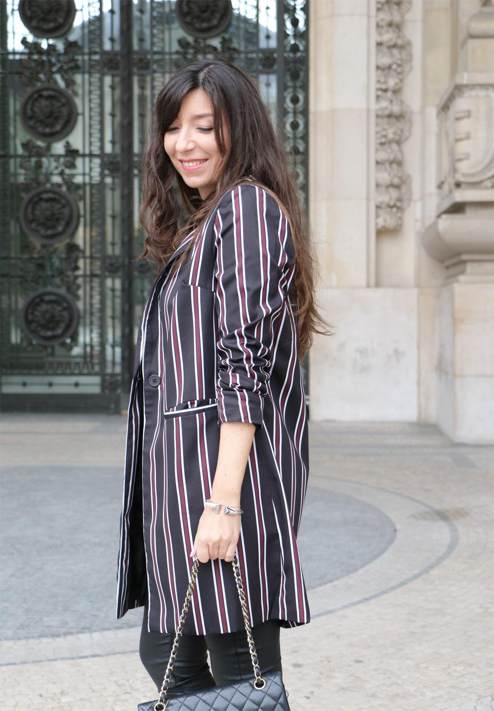 multicolor-striped-lapel-pockets-long-blazer-shein