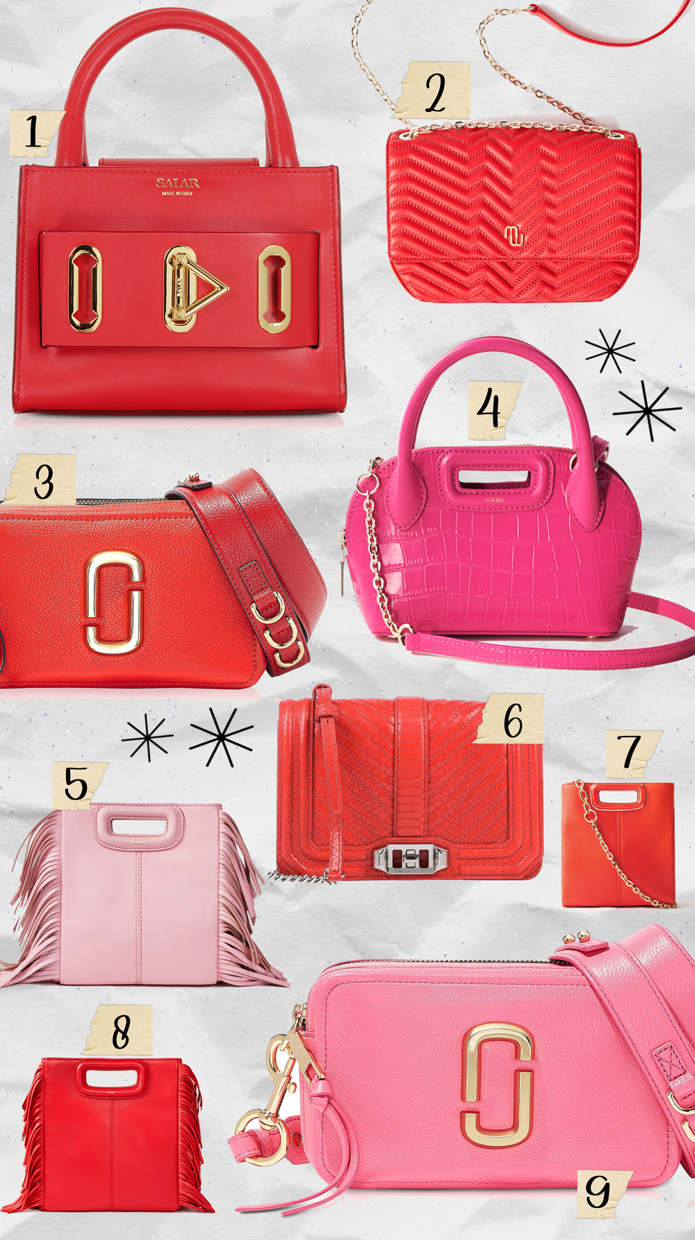 sac-cuir-abordables-rouge-rose